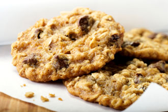 Oatmeal chocolate-chip cookie