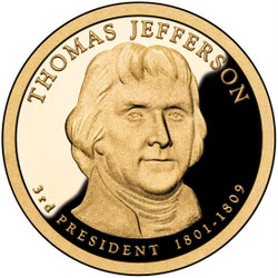 Jefferson gold coin