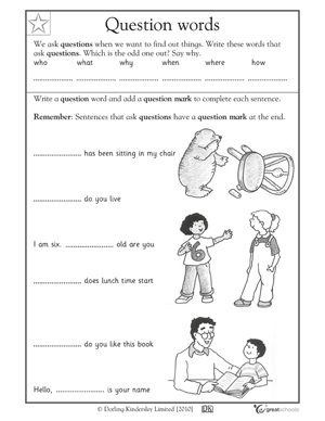 5 W's Worksheet First Grade http://www.greatschools.org/worksheets-activities/slideshows/7111-first-grade-writing-worksheets.gs?page=2