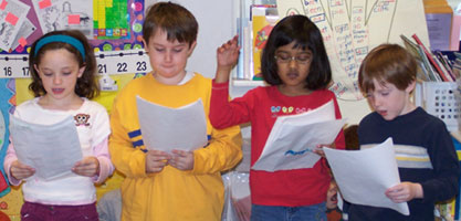 In reader's theater students read aloud from scripts with expression
