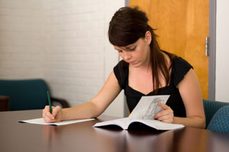 Girl studying