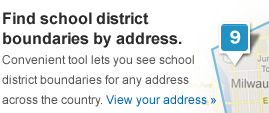 Find school district boundaries by city. Convenient tool lets you see school district boundaries for every city across the country.